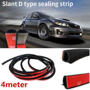 Universal Bent Q Type 13ft Car Seal Strip Door Edge Hood Trunk Lid Trim Seals