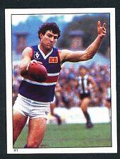 Scanlens 1984 Sticker No. 41 Jim Edmond Footscray Bulldogs