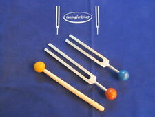 Whole Body C & G healing Tuning Fork Ying Yang+Removable Rubber Balls for Handle