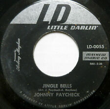 JOHNNY PAYCHECK 45 Jingle Bells LITTLE DARLIN' Country CHRISTMAS Excellent #H73