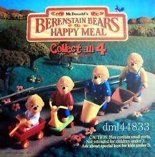 1987 McDonalds Berenstain Bears MIP Complete Set & U3s, Boys & Girls, 3+