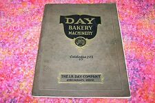 Early 1900s DAY BAKERY MACHINERY industrial tool/machine catalog