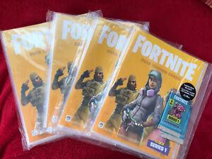 Fortnite Trading Cards 4 Starter Packs sealed