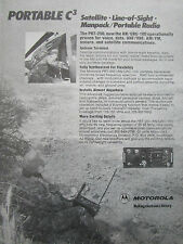 10/1980 PUB MOTOROLA ELECTRONICS PORTABLE C3 PRT-250 AN/URC-100 RADIO ARMY AD