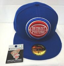 21ebe8a7c30 Detroit Pistons Men s New Era Logo Grand 59FIFTY 7 1 2 Fitted Cap Hat W