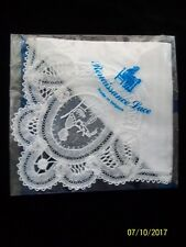 Handkerchief. Wedding..Hand Made. Lace .Brussels Lace . BNIP. Souvenir. . Bride