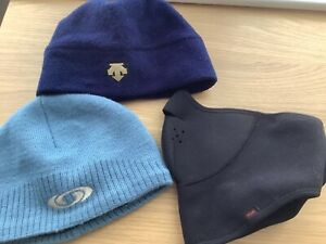 Descent & Oakley ski/snowboarding hats & face covering