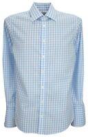 Ex Store Mens Pure Cotton Non Iron Slim Fit Double Cuff Shirt