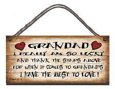 Shabby Chic BUFFA firmare Nonno sono davvero fortunato regalo 113