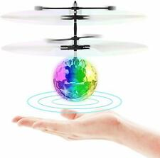 Flying Toy Ball Infrared Induction RC Flying Toy Built-in LED Light Disco Helico