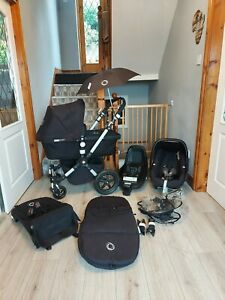 Bugaboo Cameleon 3 Travel System in Black - lots of genuine accessories