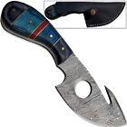 Blue Line III Oathkeepers Damascus Steel Skinner Knife Full Tang 1095HC Hunting