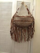 NWT GENUINE MARC JACOBS HANDBAG WITH FRINGE BROWN TONES FROM ITALY
