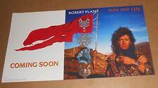 Robert Plant Now & Zen Poster Original 1988 Promo 21x12 Led Zeppellin
