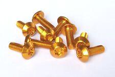 10 Stück Aluminium Schrauben 7075er M5x12 mit T25 Torx Aluschrauben gold