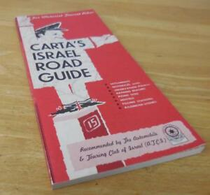 CARTA'S ISRAEL ROAD GUIDE Map Book from 1963! - EXC!