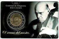 Set moneda 2 euros prueba numismatica  Pau Casals Cataluña Catalunya  1920-2020