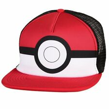 OFFICIAL NINTENDO'S POKEMON POKEBALL TRUCKER STYLED SNAPBACK CAP (NEW)