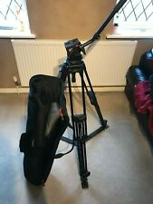 Manfrotto 525MVB two stage TRIPOD And Spreader, with Manfrotto 501 video head.