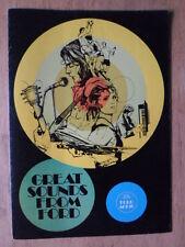FORD RADIOS CASSETTE PLAYERS orig 1973 UK Brochure - Escort Capri Granada Consul