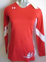 Under Armour Heat Gear Fitted Top Gun UA Volleyball Jersey Shirt Small Red