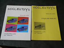 CATALOGUE JOUETS ANCIENS COLLECTOYS VENTE NOEL 2001 + COPIE DE TRAVAIL