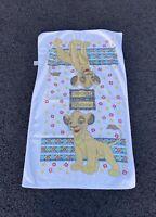 Vintage 90s Disney The Lion King Simba All Over Print Kids White Beach Towel