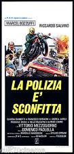 LA POLIZIA E' SCONFITTA LOCANDINA CINEMA POLIZIESCO ITALIA 1977 PLAYBILL POSTER
