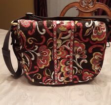 Large Vera Bradley Messenger Shoulder or Crossbody Flap Bag - Adjustable Strap