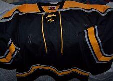 Mens Hockey Nylon Jersey Football Black Yellow Gold Large L Mesh Sportswear K1