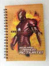 IRON MAN MOVIE ARMOR ACTIVATE SPIRAL MEDIUM NOTEBOOK 3 SUBJECT MARVEL(AVENGERS 1