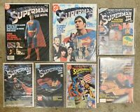 SUPERMAN COMIC BOOK ADAPTATIONS OF THE MOVIES 1978-1987 DC Comics Lot Of 7
