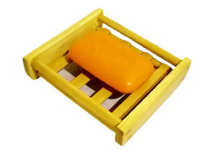 Soap Bamboo Holder Dish Wood Natural Tray Bathroom Storage Shower for Kitchen