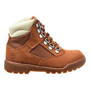 Timberland 6 Inch Youth's Field Boots Dark Orange TB0A1Q5D
