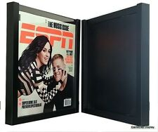 Magazine Display Frame Case Black Shadow Box Espn Rolling Stone Lot Of 2 A