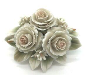 Vintage Capodimonte Flower Ornament