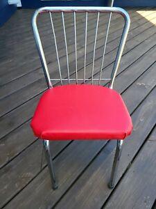 Mid Century Chrome And Vinyl Children's Chair