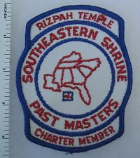 SOUTHEASTERN SHRINE RIZAH TEMPLE Vintage PATCH PAST MASTERS