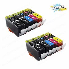 10Pack PGI220 CLI221 Ink Cartridges for Canon Printer Pixma MX860 MX870 MP560