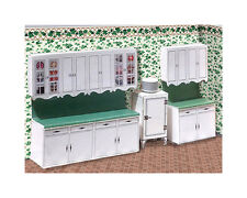 """1/4"""" Scale 1938 Vintage Kitchen Cabinets Kit with 5 Countertops  1:48 qtr"""