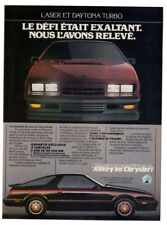 1984 CHRYSLER Laser and Daytona Turbo Z Vintage Original Print AD - Sport cars