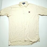 VINTAGE Polo Ralph Lauren 100% Cotton Embroidered Polo Rugby  STAINED   Mens XL