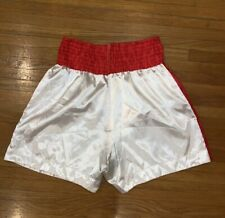 Thai Boxing Shorts Size Xxl white With Red Accents