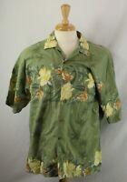 Tommy Bahama Mens Floral Hawaiian Aloha Camp Friday Shirt Silk Cotton Size XL
