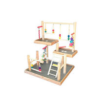 Three Levels Bird Playgym Bird Activity Center Cockatiels Playstand Height: 24""