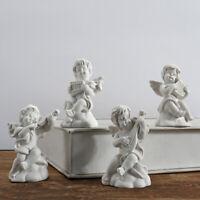 4x Mini Cute Angel Statue Cupid Figurine Music Fairy Model Sketch Practice Decor