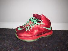 finest selection 87f41 e2131 Nike Lebron X 541100-600 Basketball 10 Christmas Pack Red Tourmaline Size  9.5