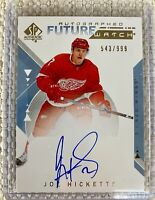 2018-19 SP AUTHENTIC JOE HICKETTS FUTURE WATCH ROOKIE AUTO RED WINGS /999 #228