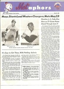 5/28/64 New York Mets newsletter Metaphors, Koufax and Mays on front