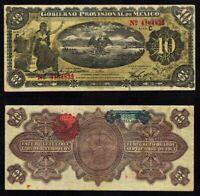 1914 Gobierno Provisional De Mexico Veracruz 10 Pesos Banknote P# S1107a XF+